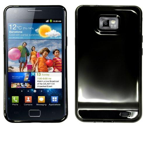 Slabo TPU Schutzhülle für Samsung I9100 Galaxy S II   Galaxy S 2 - SCHWARZ I9100 Handy