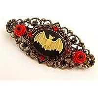 Gothic Kamee Haarspange mit Fledermaus