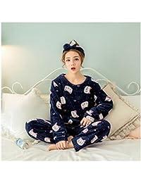 2a2b99afc51f28 MH-RITA 2017 Herbst Winter Frauen schlafen Schlafanzug Set Jacke Hose  Nachtwäsche Warme Nachthemd weiblichen Cartoon Bear Animal Hosen…
