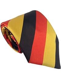 Herren Deutschland Staatsflagge Streifen Krawatte - Schwarz, Rot & Gold