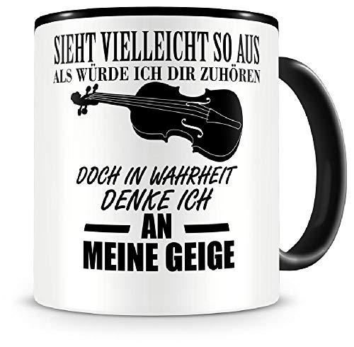 Samunshi Ich denke an meine Geige Musik Instrument Tasse Kaffeetasse Teetasse Kaffeepott...