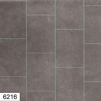 6216-Nicole 4 mm Thick Premium Grey Tile effect Anti Slip Vinyl ...