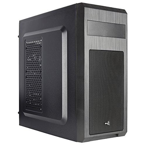 AeroCool SI5101 - Gaming Box für PC (Semitower, ATX, Kapazität bis zu 6 Lüfter, 7 Erweiterungssteckplätze, inkl. Hecklüfter 8cm, 2 x USB 2.0, 1 x USB 3.0, HD-Audio), Farbe schwarz (1x8 Frontplatte)