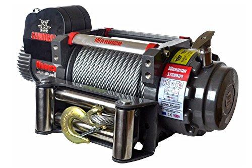 Seilwinde elektrisch 12V mit 7,9t Warrior Samurai S17500 Stahlseil - Winde für Anhänger, Auto und PKW - Outdoor & Offroad