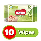 Huggies Cucumber and Aloe Vera Baby Wipes (10 Count)