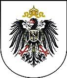 ca. 8 x 7 cm - Wappen Kontur geschnitten - Autoaufkleber Deutscher Kaiser Preussen Adler Deutsches Reich Reichsadler Aufkleber Sticker fürs Auto Motorrad