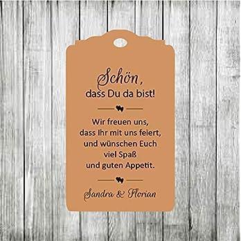 10 Willkommenskarten Geschenkanhänger Tags Papieranhänger Schön, dass Du da bist Hochzeit Taufe Kommunion Konfirmation Taufe Geburtstag