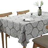 Retro Pastoral Blume rechteckige Tischdecke Leinen Restaurant Tuch Brautkleid Tisch Tischdecke 140x200cm 55x79 Zoll