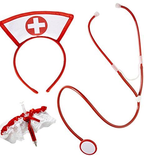 Und Krankenschwester Patient Kostüm - Widmann Krankenschwester Set für Erwachsene