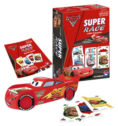 Winning Moves 80312 - Disney Cars 2: 1000 Kilometer - Kartenspiel Klassik