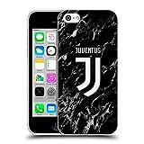 Head Case Designs Officiel Juventus Football Club Noir 2017/18 Marbre Étui Coque en Gel Molle pour iPhone 5c