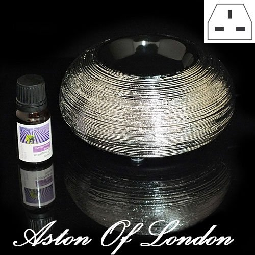 aston-of-londonr-silver-coloured-electric-ceramic-essential-oil-burner-aroma-diffuser-with-10ml-sand