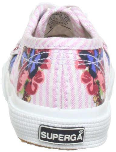 Superga 2750- Shirtfantasyj, Low-top fille Multicolore - Mehrfarbig (FlowerButterfly Pink A11)