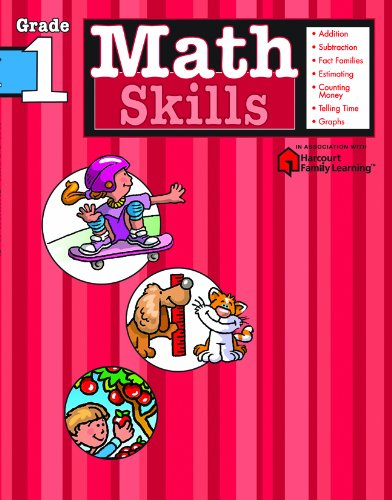 Math Skills, Grade 1 (Flash Kids Harcourt Family Learning)