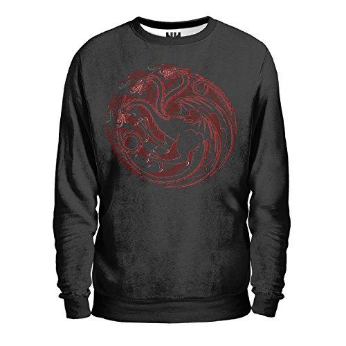 TARGARYEN'S HOUSE - CASATA TRONO DI SPADE Sweatshirt Man - Felpa Uomo - House Martell, George Martin Game of Thrones, T-Shirt Jon Snow Arya