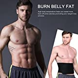 Youngdo Waist Trimmer Ab Belt Trainer for Men and Women Adjustable Slimming Belt Belly Fat Burner with Back Support for Faster Weight Loss and Gym Workout