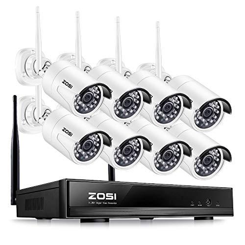 ZOSI Kit Cámaras Vigilancia WiFi 1080P Sistema Seguridad