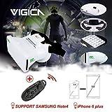 VIGICA RIEM III 3D VR Gafas Headset Google Cardboard para 3.5-6.0 Pulgadas iPhone with Bluetooth Controlador,Samsung Note, LG Nexus,Android Smartphones White