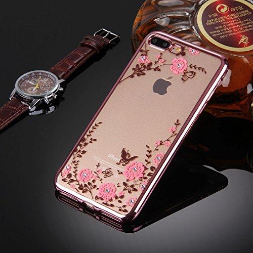 BING Für iPhone 7 Plus Blumen Muster Galvanisieren Soft TPU Schutzhülle Fall BING ( SKU : Ip7p5910d ) Ip7p5910f