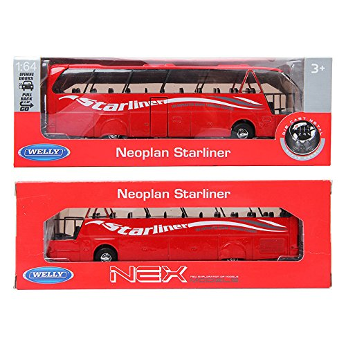 welly-164-diecast-model-car-neoplan-starliner-bus-red-minicar-toy