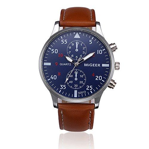 Herren Armbanduhr ALIKEEY Retro Design Lederband analoge Legierung Quarz-Armbanduhr Quarzuhr Männer Edelstahl Mesh Business Fashion Armbanduhr Mann Runde