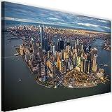 Feeby Leinwandbild XXL New York City Wandbild Kunst Manhattan Stadt bunt 120x80 cm