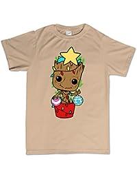 Customised Perfection Galaxy Guardia Presente Santa Claus árbol de Fiesta T Shirt