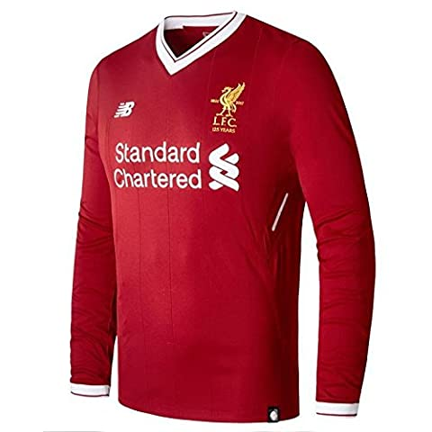 Liverpool Home Shirt 2017-18 - Long Sleeve - Kids XL