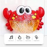 JLSYYCC Crab Bubble Machine, Badespielzeug mit 12 Kinderreimen, Baden von Kindern