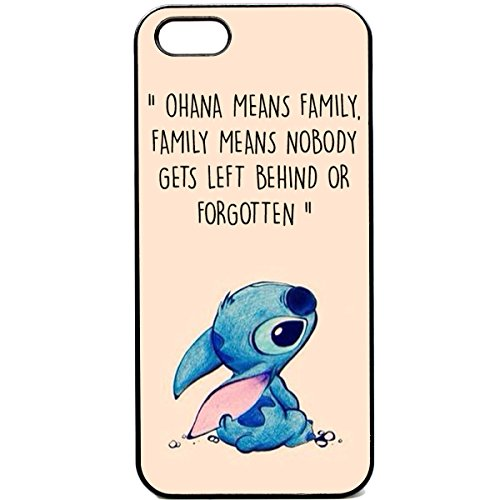 iPhone 5c Phone case Ohana means family Lilo stich quote