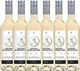 6er Paket - Fleur de d'Artagnan Blanc 2017 - Plaimont | trockener Weißwein | französischer Sommerwein aus Sud Ouest | 6 x 0,75 Liter