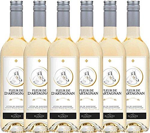 6er Paket - Fleur de d\'Artagnan Blanc 2017 - Plaimont | trockener Weißwein | französischer Sommerwein aus Sud Ouest | 6 x 0,75 Liter