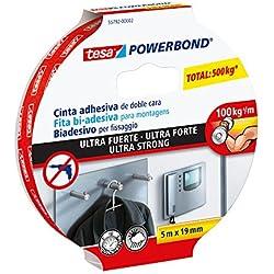Tesa 55792-00001-00 Powerbond - Cinta adhesiva extrafuerte (5 m x 19 mm) [producto importado]