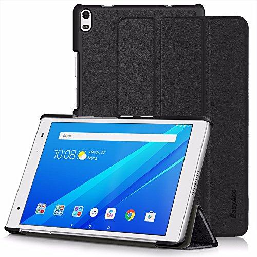 Lenovo Tab4 8 Plus Hülle - EasyAcc Ultra Dünn Case mit Standfunktion und Auto Sleep / Wake Up Funktion Slim Leder Schutzhülle Perfekt Geeignet für Lenovo Tab4 8 Plus Tablet (Schwarz, Ultra Dünn)