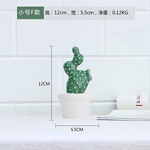 F-trompete (Unechte Blumen Keramik Topfpflanzen Cactus kreative Simulation pflanzen Wohnzimmer Dekoration Wohnungseinrichtung Nordic Studie, Trompete F)