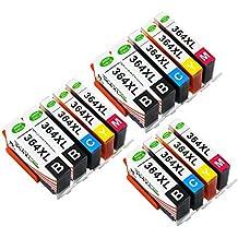 Toner Kingdom 14 Paquete (3 Set +2 Negro) Compatible HP 364XL 364 Cartucho de tinta para HP Photosmart 5510 5511 5512 5514 5515 5520 5522 5524 6510 6520 6512 6515 7510 7520 7515 B8550 B8558 B110c B010a C5370 C5383 C5388 C6324 C6380 D5460 D7560 C310a C410a B209a B210a HP Deskjet 3070A Impresora