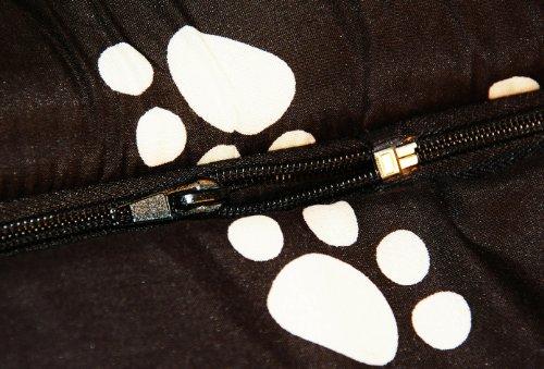 nanook Hundehöhle Chalet Black, Schwarz mit Pfoten - 5