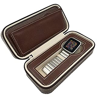 Bladwin R. 2 Watch Holder Protect Your Gracious Watch Great For Traveling Displaying Storaging (Brown)