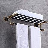 Kitrack an der Wand Befestigter Handtuchhalter Hing Badezimmerregale Hotelartschiene mit Regal