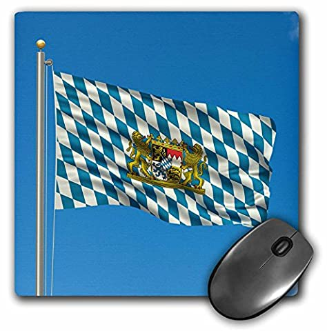 3dRose Flag of Bavaria On A Flag Pole with Blue