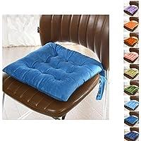 cojines para silla,Worsendy cojines para silla de cocina,Cojines de Asiento Cojín Amortiguador de Sillas Comedor Al Aire Libre Jardín Muebles Decoración (Azul)