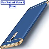 Aeetz® Redmi Note 5 Back Case, 3in1 Dual Hybrid Ultra Slim Case For Redmi Note 5 Cover Hybrid PC Hard Back Full Protection Mi Case For Redmi Note 5 - Blue With Gold