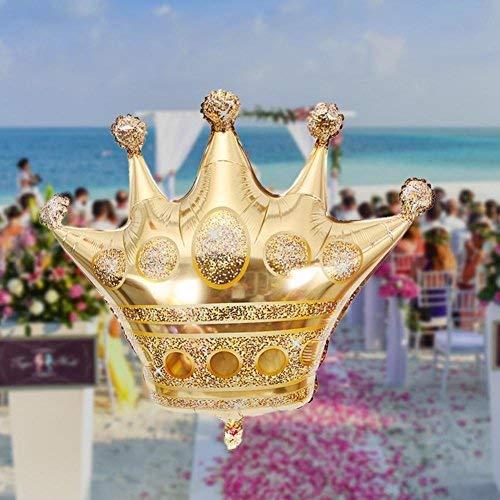 ll Spielzeug Krone Helium Ballon Prinzessin Krone Folie Ballons für alles gute zum Geburtstag Hochzeit Party Baby Dekoration Prinzessin Kinder 1pcGold ()
