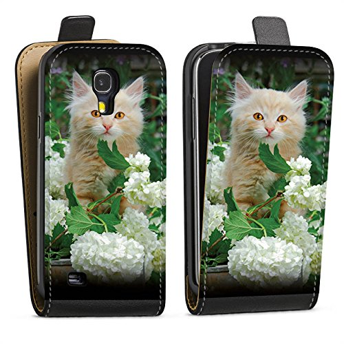 Samsung Galaxy S4 Tasche Hülle Flip Case Katze Cat Kitten Babykatze Samsung Galaxy S4 Cat Flip Case