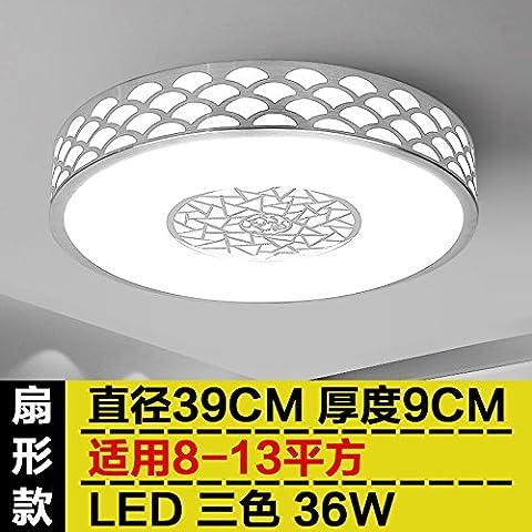 LED lumière modernes chandeliers. Candelabre Suspension de Plafond Rond de lumière se Jeu La Chambre Salon Chambre Balcon Couloir de transit de éclairage pour les lampes de la cuisine, ventilateur de 39cm 36W 3Couleur