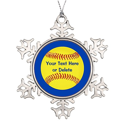 sbäume dekoriert, günstiger Softball Party Favor Mädchen Softball Party Weihnachtsmann Dekorationen Softball Goodie ()