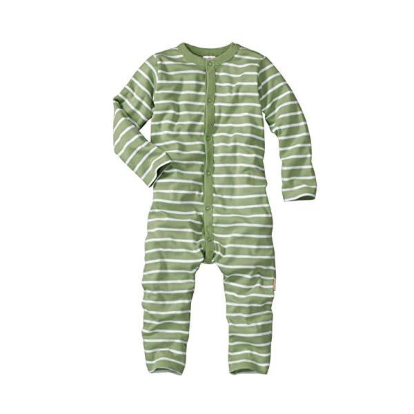 WELLYOU Pijamas para bebés y niños, Pijamas de una Pieza 100% Hecho de algodón, Color Verde con Rayas Blancas. Tallas 56-134 1