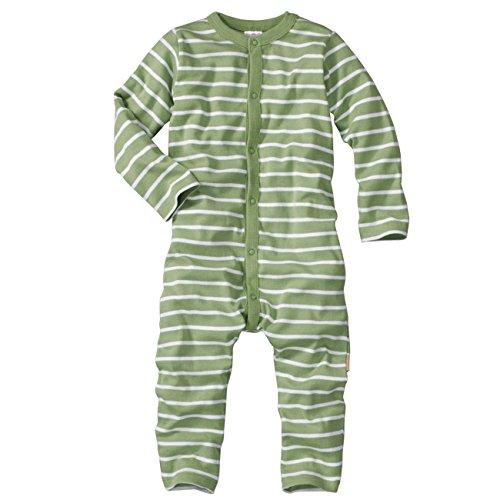 Wellyou - Pyjamas D'Une Seule Pièce Rayé À Manches Longues Vert Et Blanc Wellyou