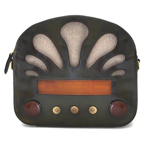 Pratesi Radio Days borsa da donna - S436 Santa Croce (Nero) Verde scuro