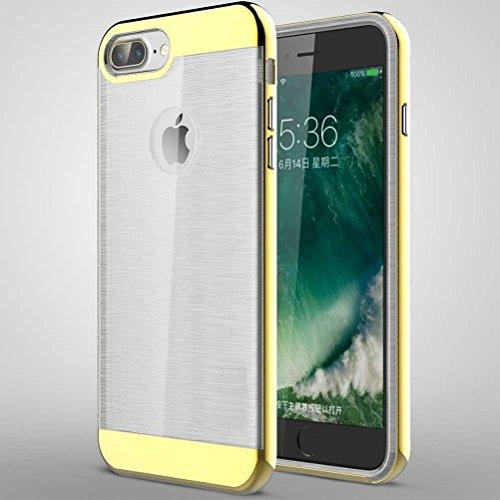 """iPhone 7 Plus Coque, AOFad Case Mince Protection des lourds 2-à-1 or TPU Avec 11 Colors Tréfilage Accessoires Série Pour Femme Homme 5.5"""" I699 AOFad B321"""